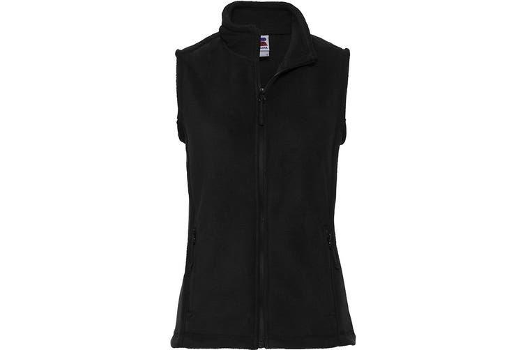Russell Europe Womens/Ladies Outdoor Full-Zip Anti-Pill Fleece Gilet Jacket (Black) (L)