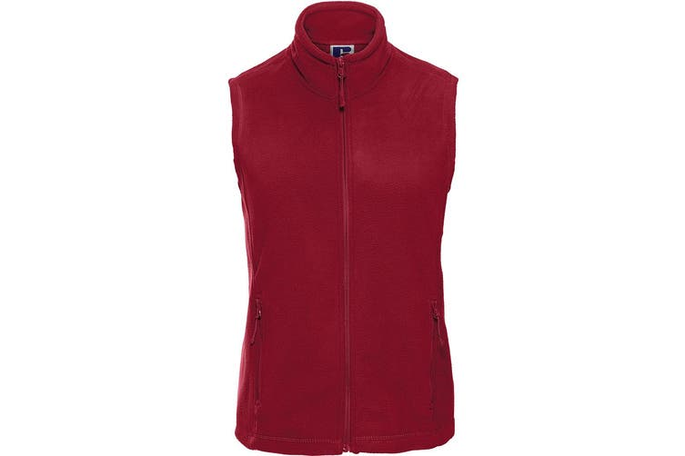 Russell Europe Womens/Ladies Outdoor Full-Zip Anti-Pill Fleece Gilet Jacket (Classic Red) (XS)
