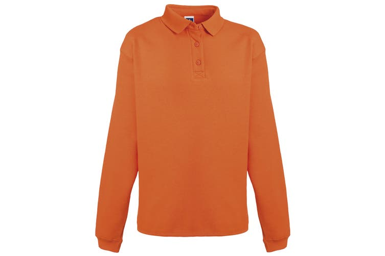 Russell Europe Mens Heavy Duty Collar Sweatshirt (Orange) (2XL)