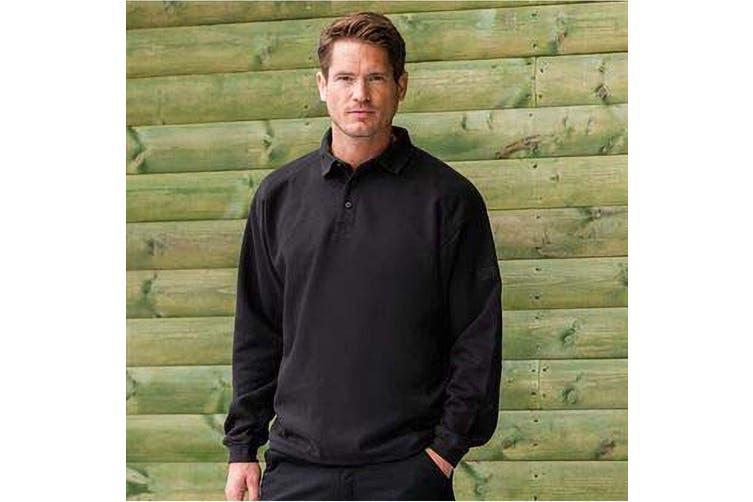 Russell Europe Mens Heavy Duty Collar Sweatshirt (Black) (XL)