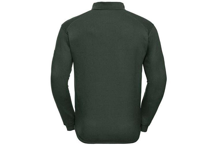 Russell Europe Mens Heavy Duty Collar Sweatshirt (Bottle Green) (2XL)