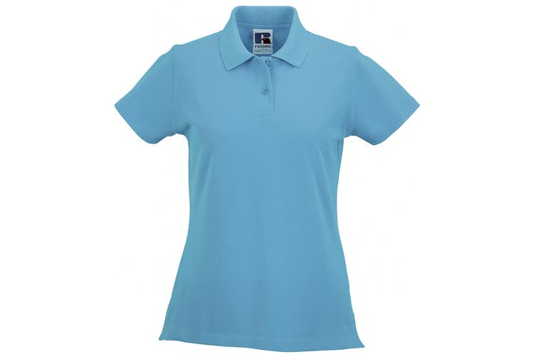 Russell Europe Womens/Ladies Classic Cotton Short Sleeve Polo Shirt (Turquoise) (L)