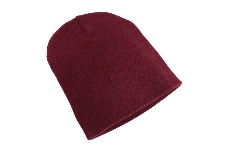 Yupoong Flexfit Unisex Heavyweight Standard Beanie Winter Hat (Maroon) (One Size)