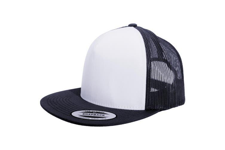Yupoong Flexfit Unisex Classic Trucker Snapback Cap (Navy/White/Navy) (One Size)