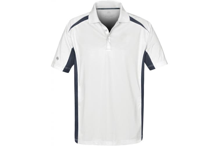 Stormtech Mens Two Tone Short Sleeve Lightweight Polo Shirt (White/Navy) (L)