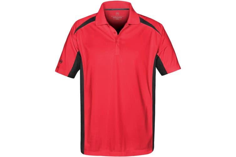 Stormtech Mens Two Tone Short Sleeve Lightweight Polo Shirt (Red/Black) (2XL)