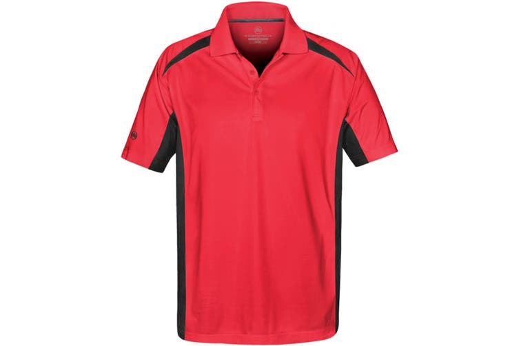Stormtech Mens Two Tone Short Sleeve Lightweight Polo Shirt (Red/Black) (M)