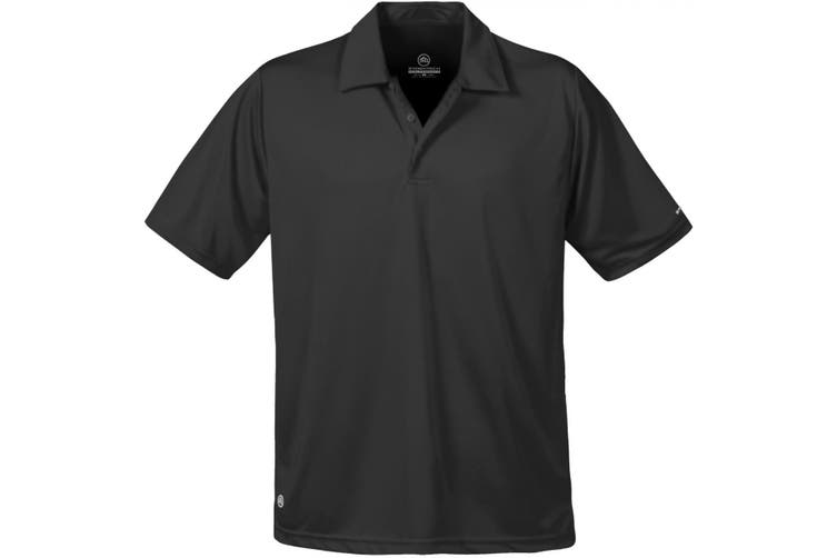Stormtech Mens Short Sleeve Sports Performance Polo Shirt (Black) (L)