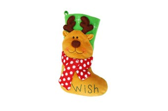 Christmas Shop Bright Character Stocking (Reindeer) (One Size)