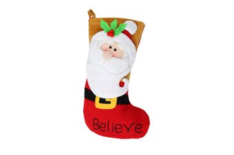 Christmas Shop Bright Character Stocking (Santa) (One Size)