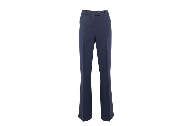 Alexandra Womens/Ladies Icona Bootleg Formal Work Suit Trousers (Navy) (20S)