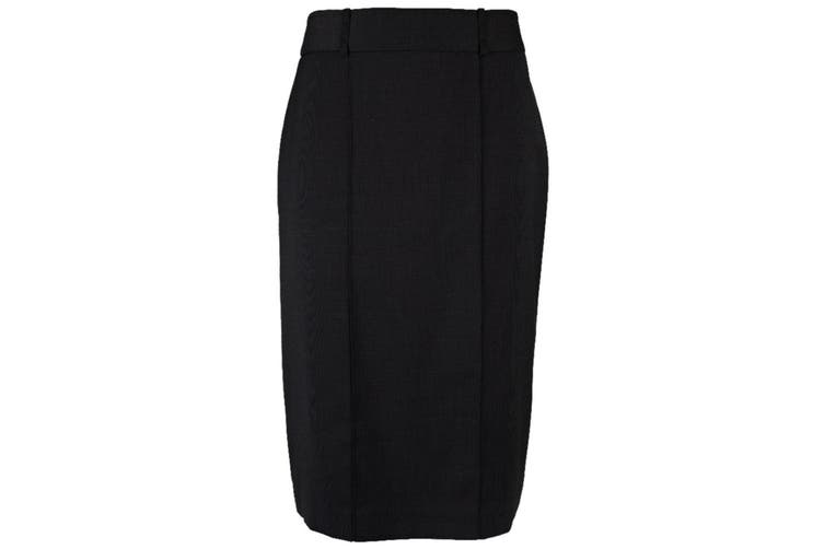Alexandra Womens/Ladies Icona Straight Formal Work Skirt (Black) (8S)