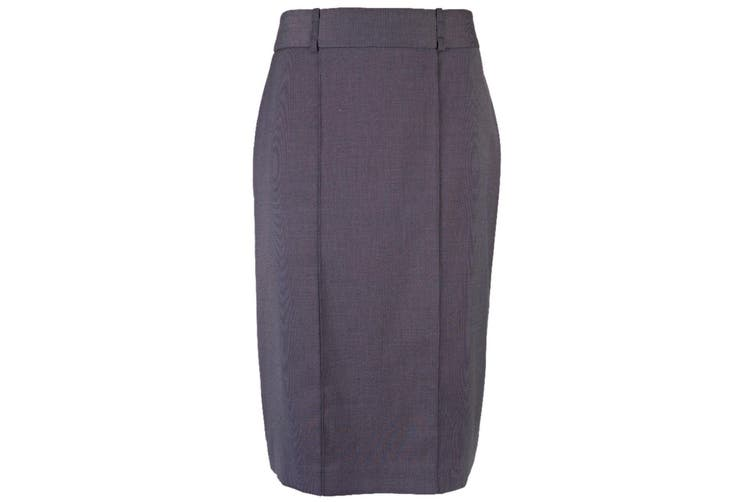 Alexandra Womens/Ladies Icona Straight Formal Work Skirt (Charcoal) (12S)