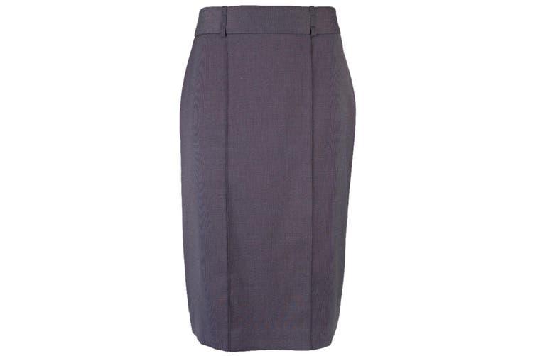 Alexandra Womens/Ladies Icona Straight Formal Work Skirt (Charcoal) (20R)