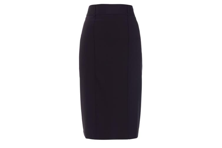 Alexandra Womens/Ladies Icona Straight Formal Work Skirt (Navy) (14R)