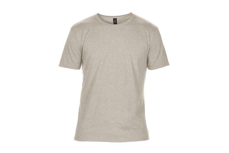 Anvil Mens Plain Short Sleeve Tri-Blend T-Shirt (Heather Slate) (2XL)