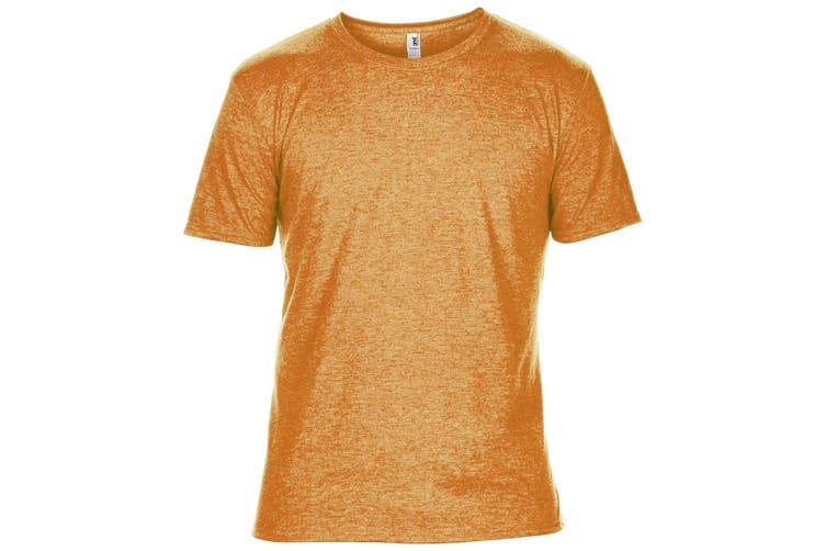 Anvil Mens Plain Short Sleeve Tri-Blend T-Shirt (Heather Orange) (XS)