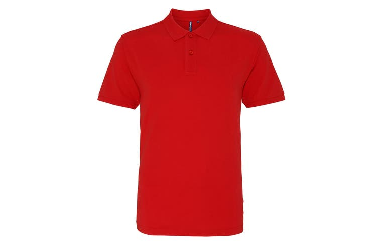 Asquith & Fox Mens Plain Short Sleeve Polo Shirt (Washed Red) (3XL)