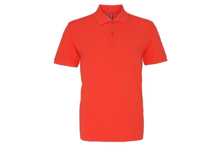 Asquith & Fox Mens Plain Short Sleeve Polo Shirt (Coral) (2XL)