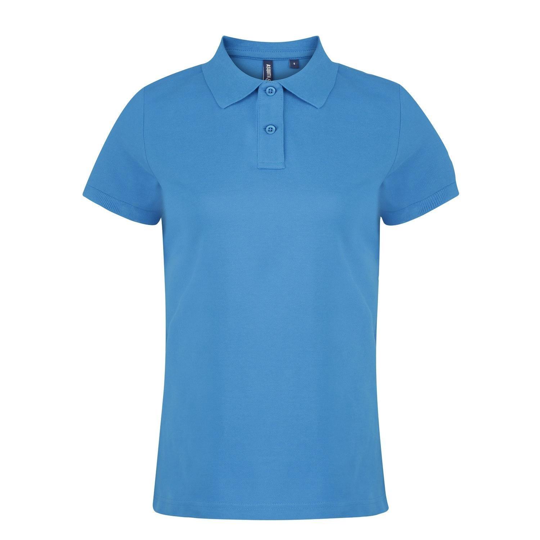 Asquith /& Fox Womens//Ladies Plain Short Sleeve Polo Shirt
