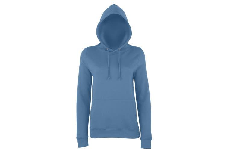 AWDis Just Hoods Womens/Ladies Girlie College Pullover Hoodie (Airforce Blue) (2XL)
