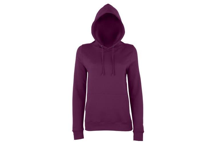 AWDis Just Hoods Womens/Ladies Girlie College Pullover Hoodie (Plum) (XL)