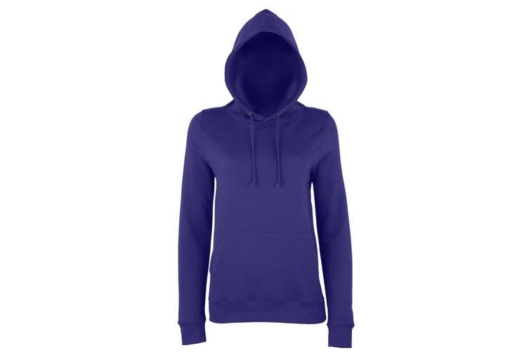 AWDis Just Hoods Womens/Ladies Girlie College Pullover Hoodie (Purple) (L)