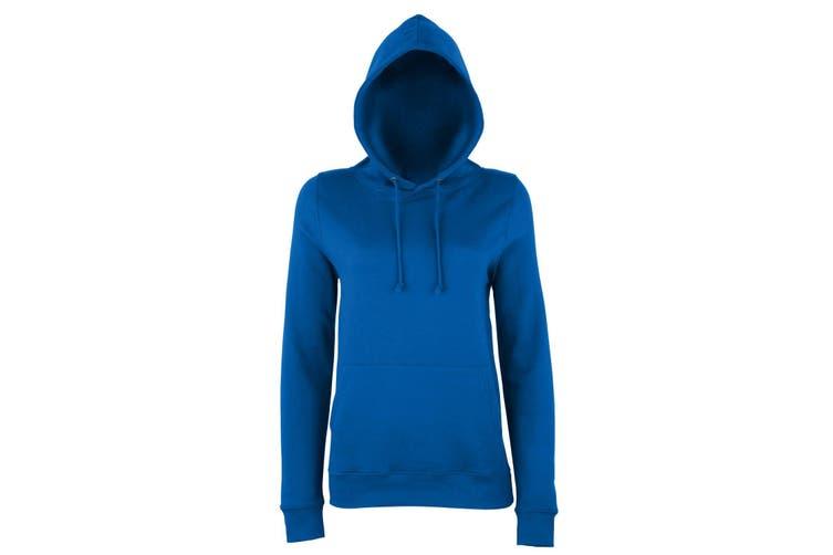 AWDis Just Hoods Womens/Ladies Girlie College Pullover Hoodie (Royal Blue) (L)