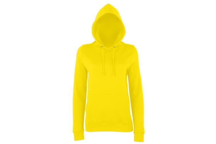 AWDis Just Hoods Womens/Ladies Girlie College Pullover Hoodie (Sun Yellow) (L)