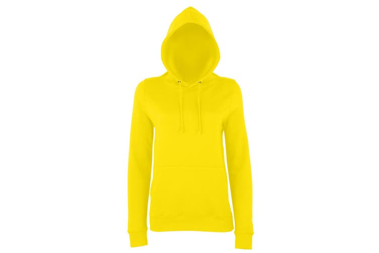AWDis Just Hoods Womens/Ladies Girlie College Pullover Hoodie (Sun Yellow) (M)