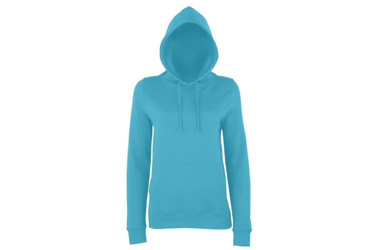AWDis Just Hoods Womens/Ladies Girlie College Pullover Hoodie (Turquoise Surf) (M)