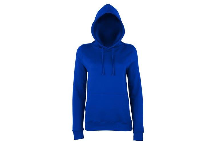 AWDis Just Hoods Womens/Ladies Girlie College Pullover Hoodie (Oxford Navy) (XS)