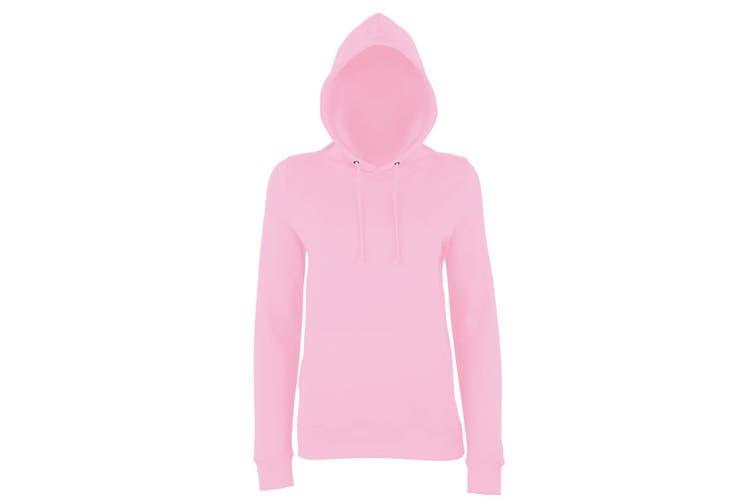 AWDis Just Hoods Womens/Ladies Girlie College Pullover Hoodie (Baby Pink) (XL)