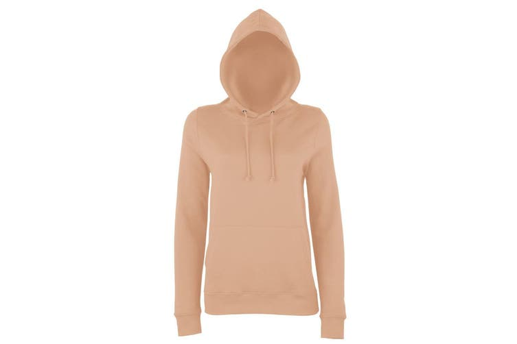 AWDis Just Hoods Womens/Ladies Girlie College Pullover Hoodie (Nude) (2XL)