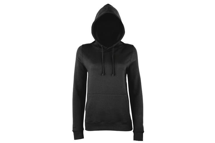 AWDis Just Hoods Womens/Ladies Girlie College Pullover Hoodie (Storm Grey) (2XL)
