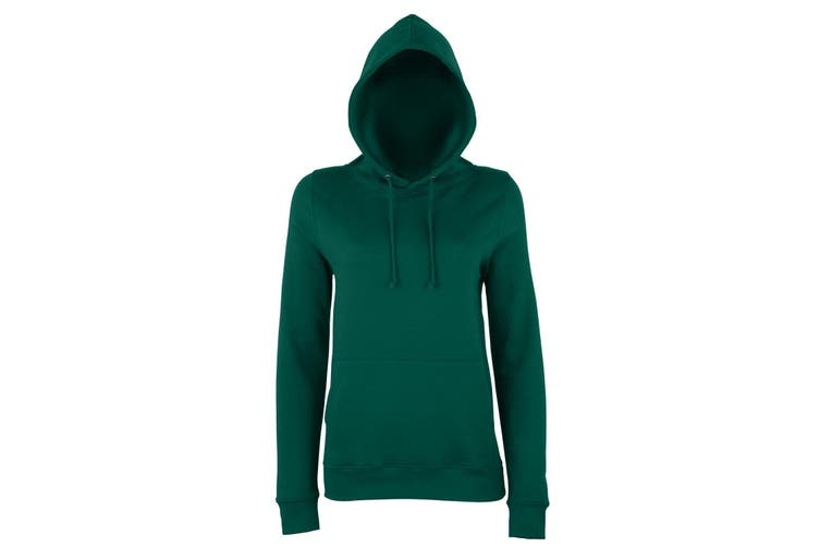 AWDis Just Hoods Womens/Ladies Girlie College Pullover Hoodie (Bottle Green) (2XL)