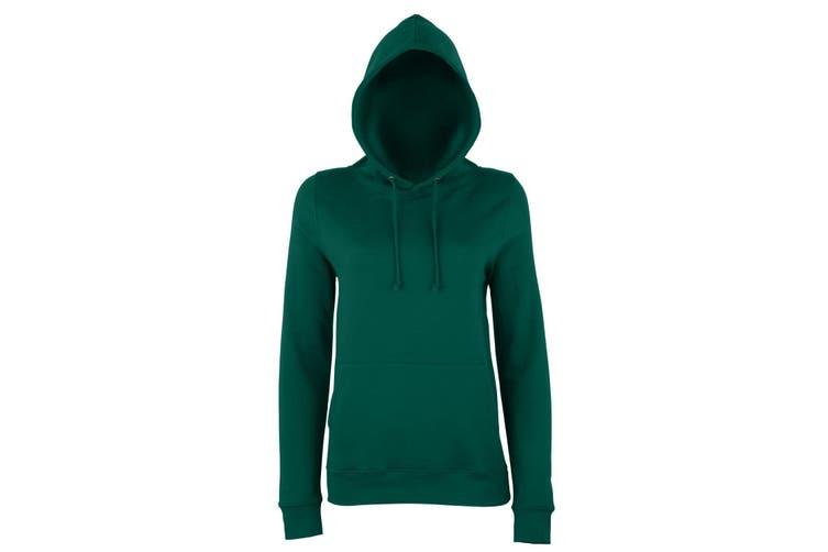 AWDis Just Hoods Womens/Ladies Girlie College Pullover Hoodie (Bottle Green) (XS)
