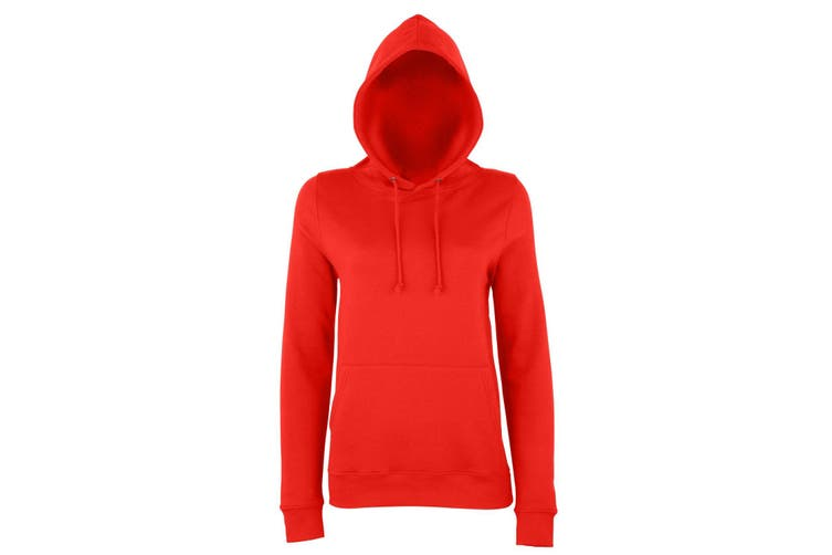 AWDis Just Hoods Womens/Ladies Girlie College Pullover Hoodie (Fire Red) (XL)