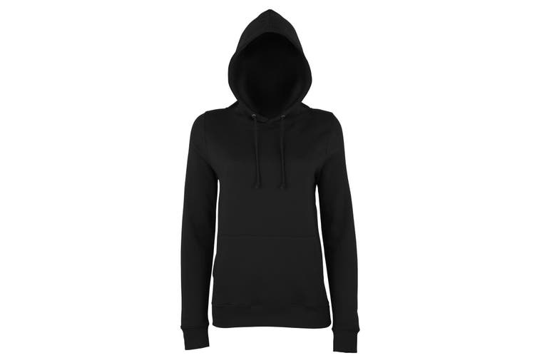 AWDis Just Hoods Womens/Ladies Girlie College Pullover Hoodie (Jet Black) (S)