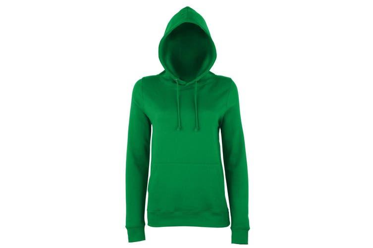 AWDis Just Hoods Womens/Ladies Girlie College Pullover Hoodie (Kelly Green) (XL)