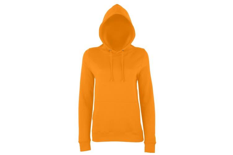 AWDis Just Hoods Womens/Ladies Girlie College Pullover Hoodie (Orange Crush) (M)