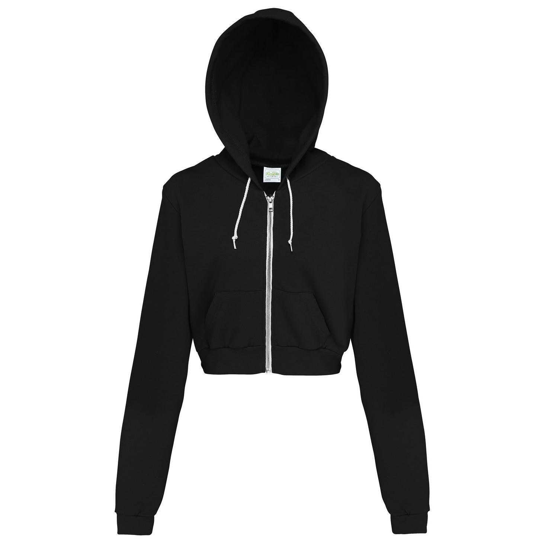 RW3482 AWDis Just Hoods Womens//Ladies Girlie Cropped Full Zip Hoodie Jacket