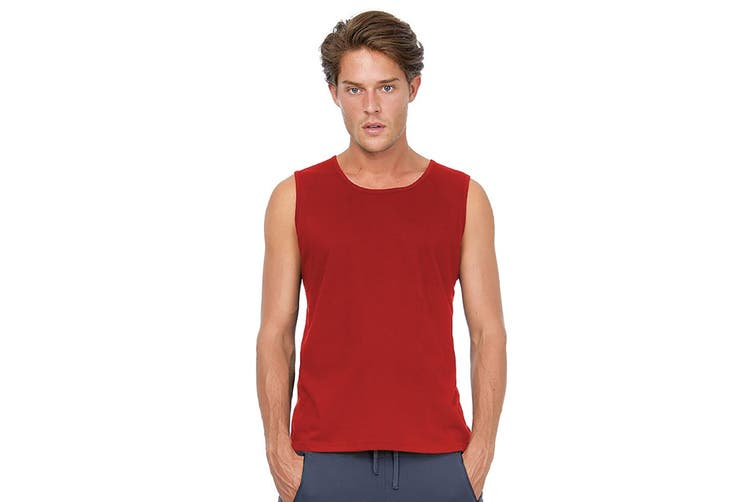 B&C Mens Move Sleeveless Athletic Sports Vest Top (Red) (M)
