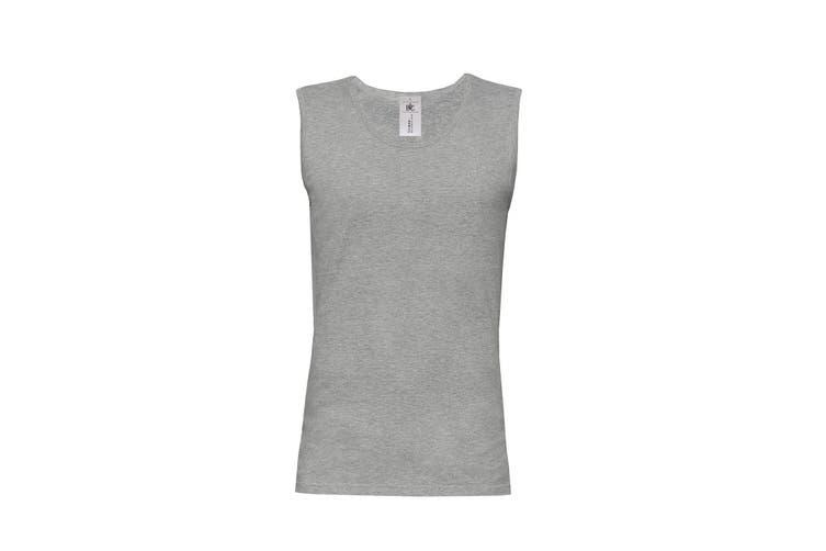 B&C Mens Move Sleeveless Athletic Sports Vest Top (Sport Grey) (L)