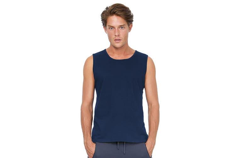 B&C Mens Move Sleeveless Athletic Sports Vest Top (Navy) (L)