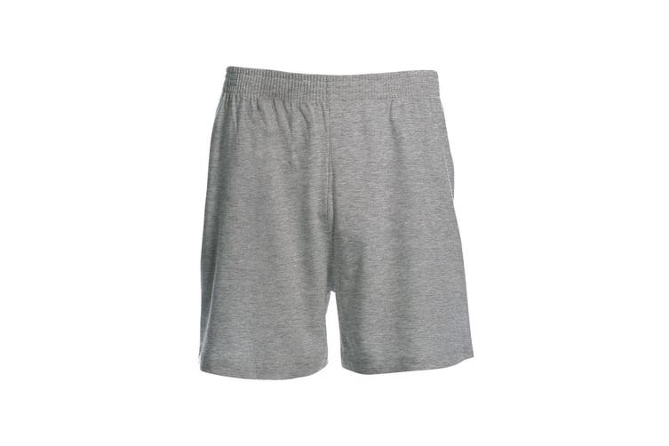 B&C Mens Move Knee Length Sport Shorts (Sport Grey) (L)
