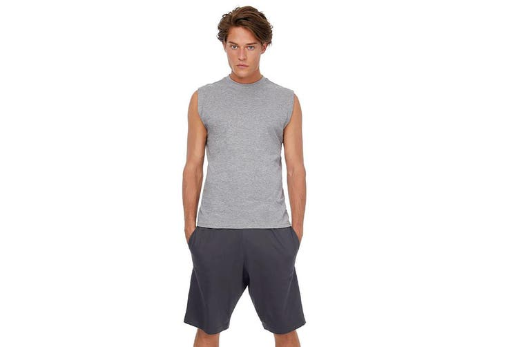 B&C Mens Move Knee Length Sport Shorts (Dark Grey) (XL)