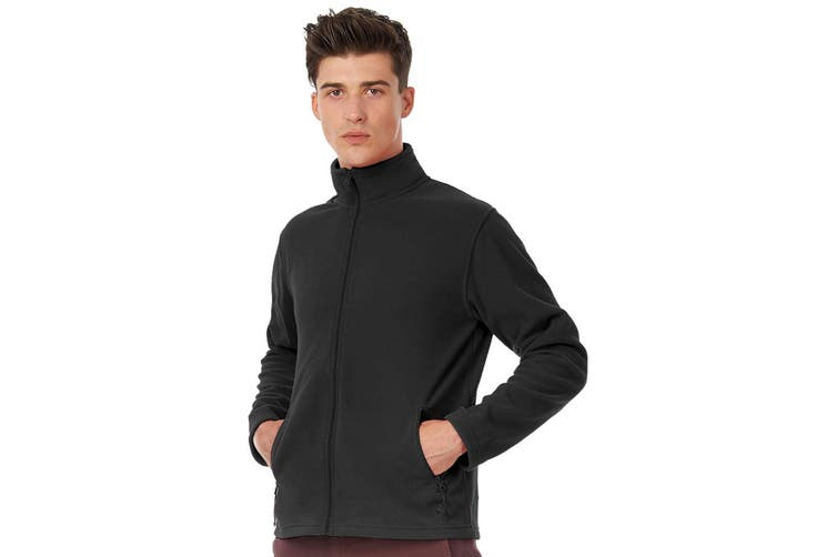 B&C Collection Mens ID 501 Microfleece Jacket (Black) (L)
