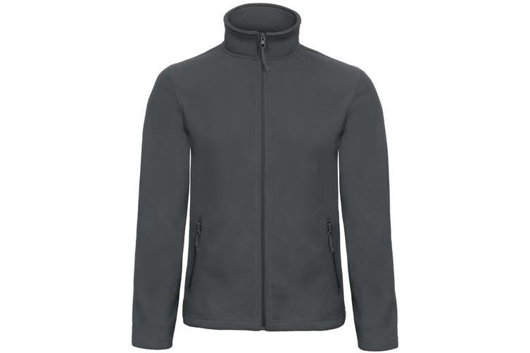 B&C Collection Mens ID 501 Microfleece Jacket (Dark Grey) (3XL)