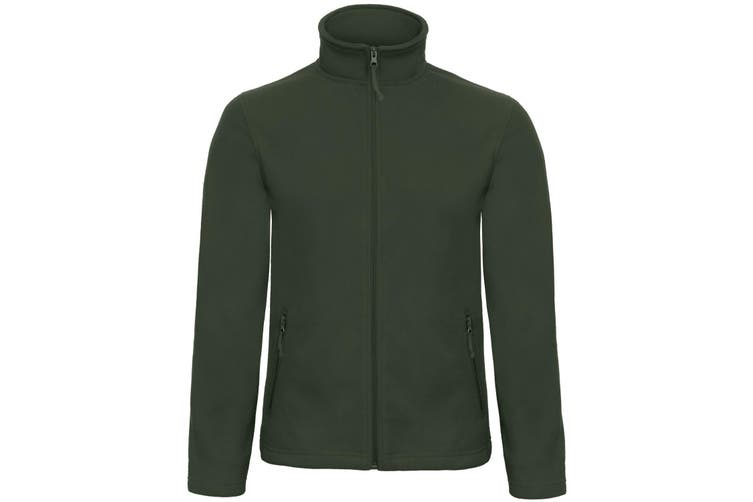 B&C Collection Mens ID 501 Microfleece Jacket (Forest Green) (4XL)